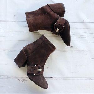 Aquatalia Waterproof suede leather Ankle Booties
